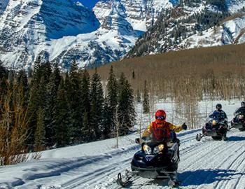 T Lazy 7 Snowmobile Tours in Aspen