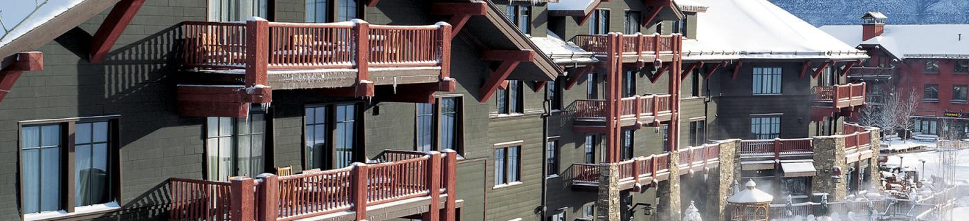 The Ritz Carlton exterior in Aspen