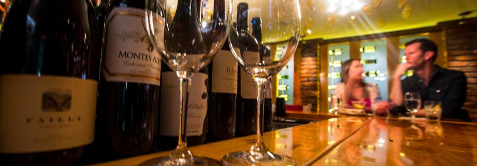 Glasses of wine during Aspen nightlife