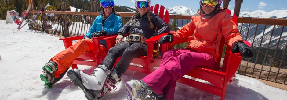 Women Spring Skiing in Aspen