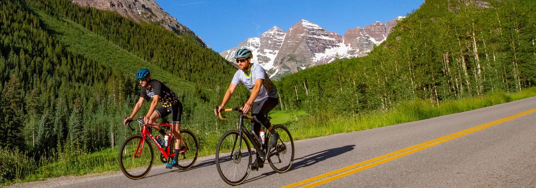 Aspen Biking Near the Maroon Bells