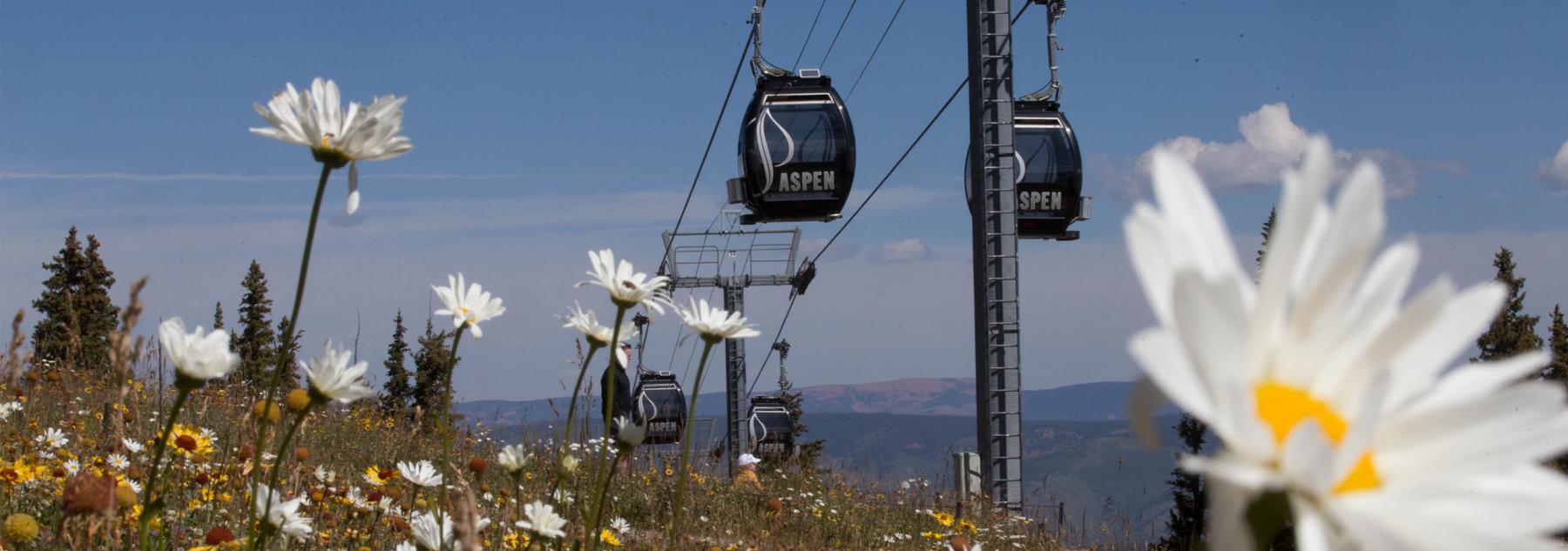 Aspen Mountain Gondola During Summer