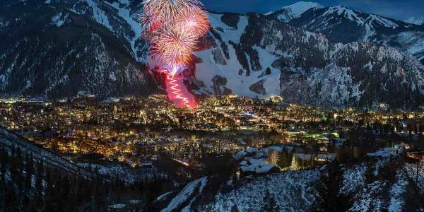 Aspen Mountain Winter Fireworks