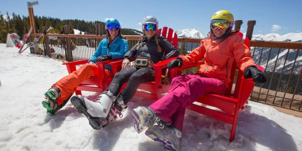 Women Spring Skiing in Aspen
