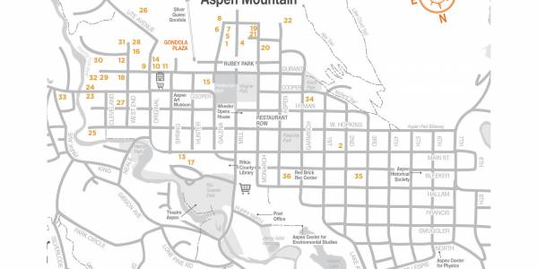Map of downtown Aspen