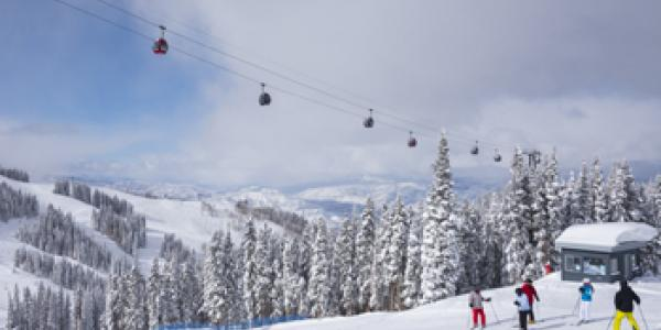 Frias reservations manager Mike Duffy on the slopes