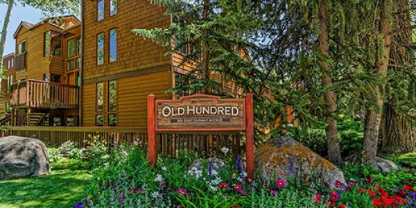 Exterior of the Old Hundred Condo Rentals in Aspen