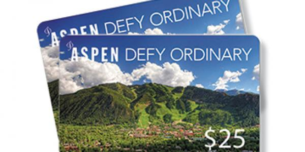 Aspen Defy Ordinary Gift Cards
