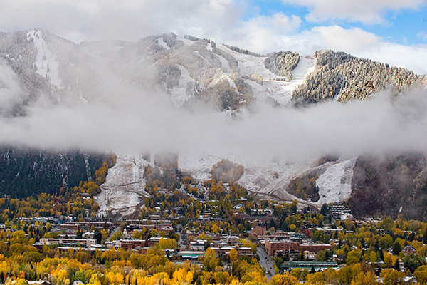 First snow in Aspen
