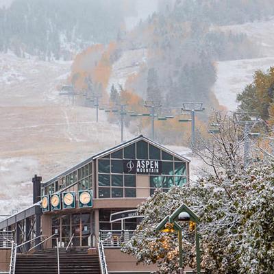 October snow in Aspen Snowmass