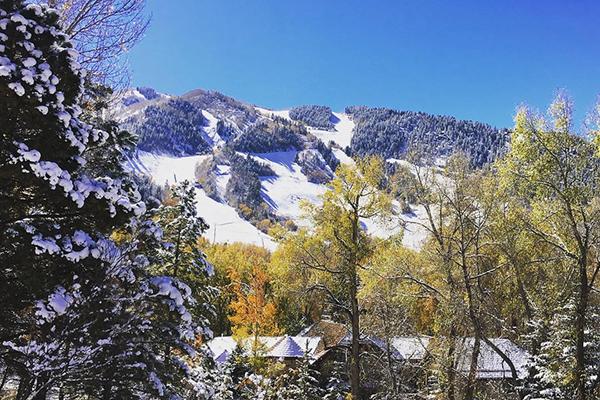 Aspen snow in October