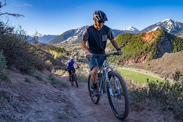 Mountain Biking in Aspen in Spring