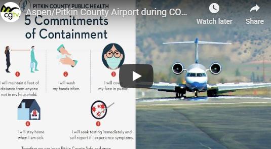 Aspen Airport COVID-19 Precautions