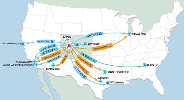 Aspen Airport service for winter 2021-22