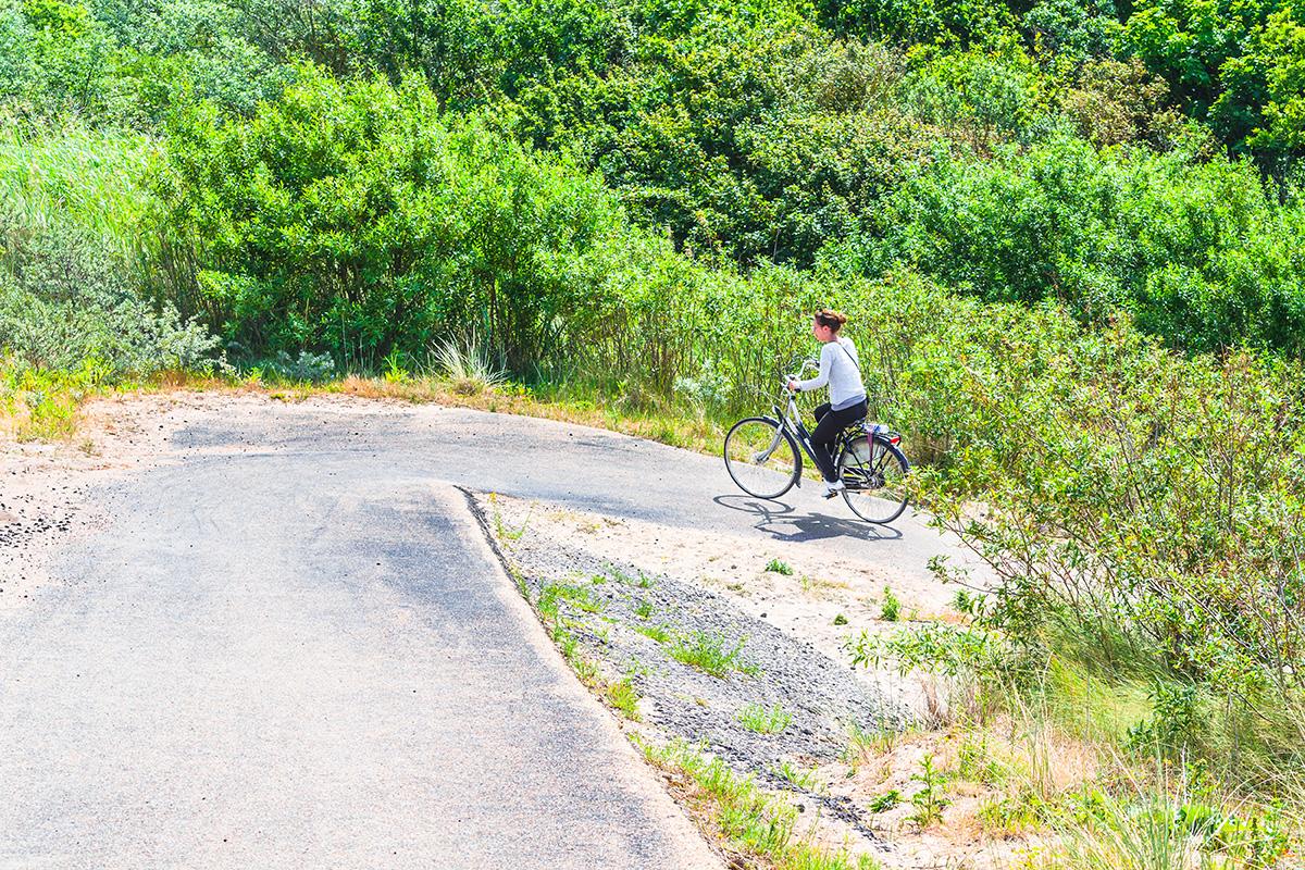 e-bike commuting on the bike path in aspen Colorado