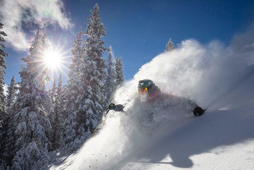 Bluebird Skiing in Aspen
