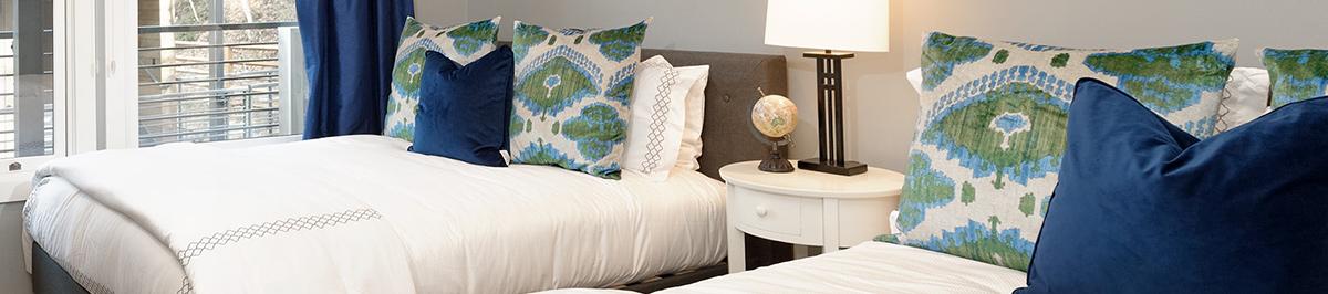 Luxury bedding in Aspen vacation rentals