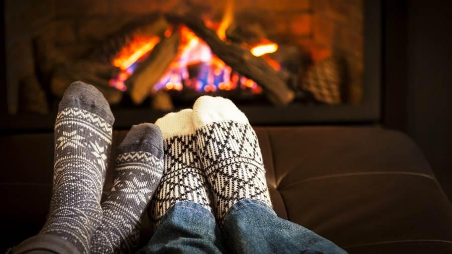romantic fireplace in aspen