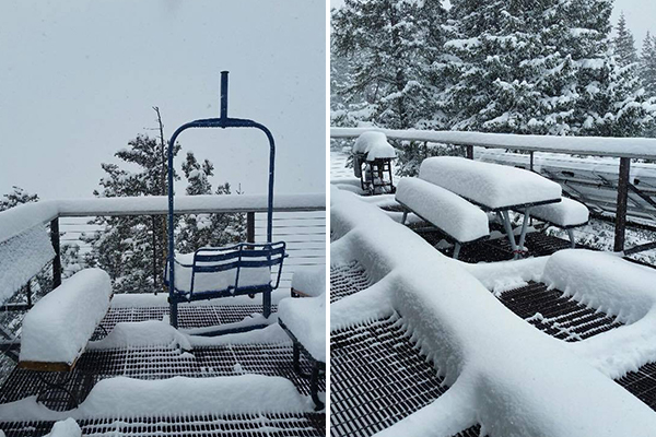 Aspen Highlands first snow in October