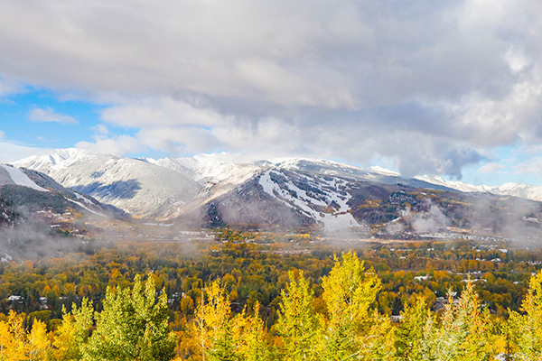 First snow on Buttermilk and Aspen Highlands