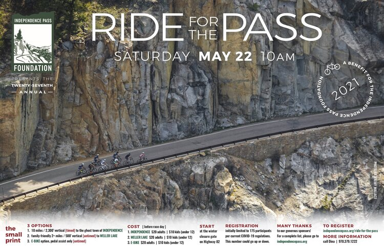 ride for the pass poster