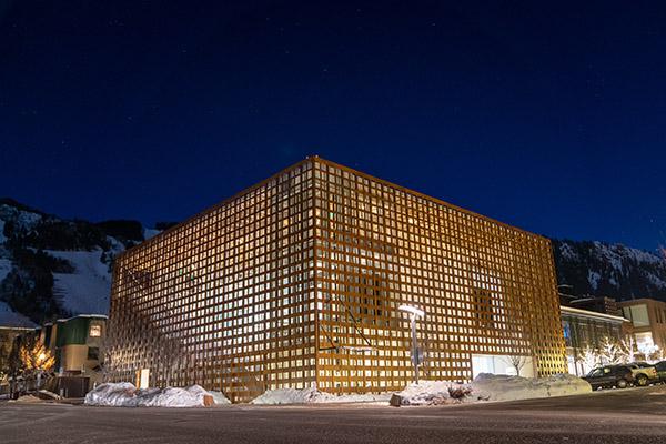 Aspen Art Museum in Winter