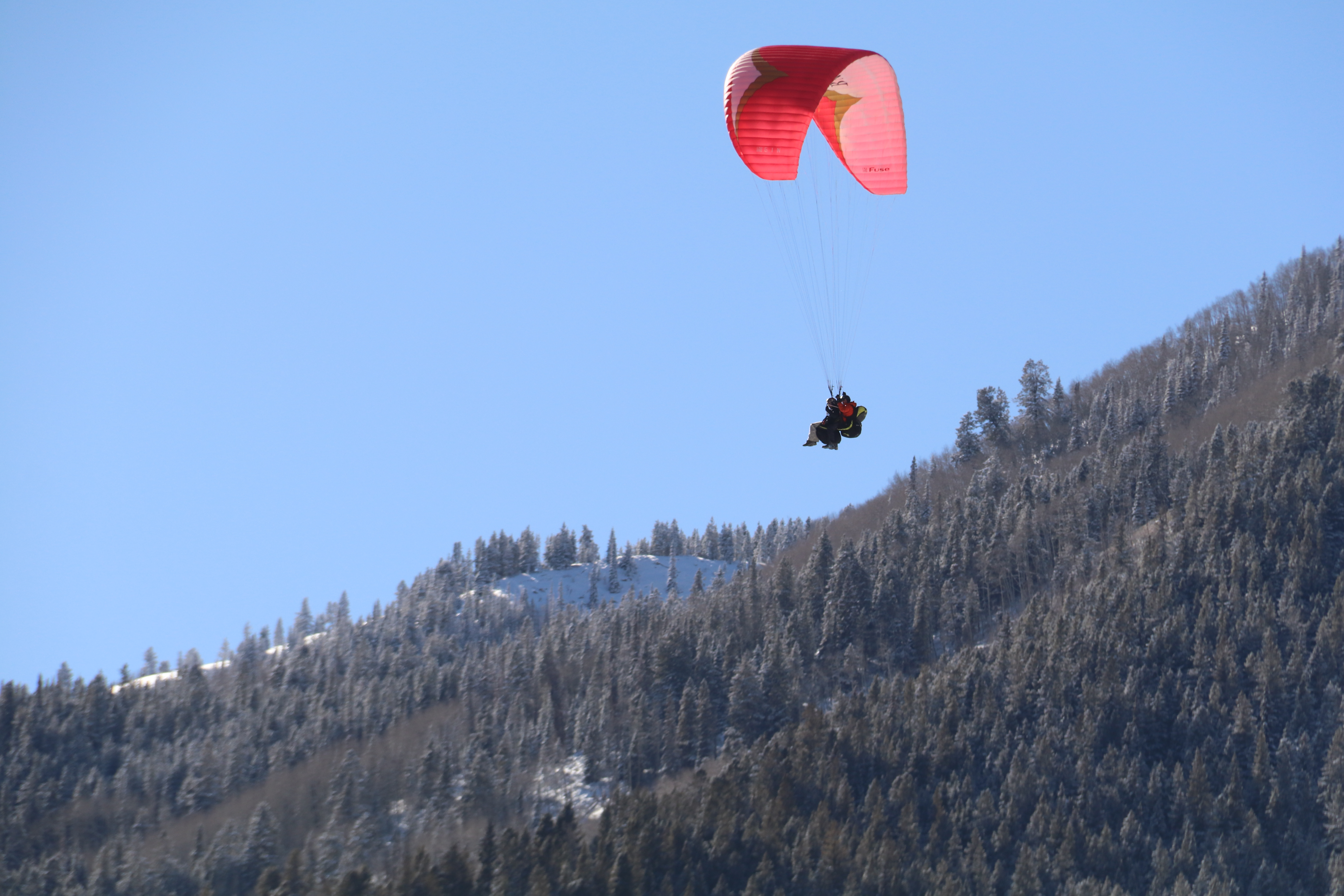 Aspen paragliding in the winter aspen winter activities