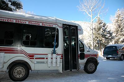 Free Silverglo skier shuttle