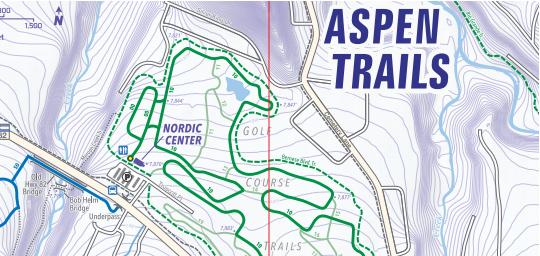 Aspen Nordic Trail Map