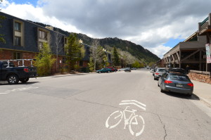Aspen city crews have been working hard to install new bike lane signage to local streets, such as this one right outside the Frias Properties office on Durant Avenue.
