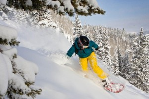 Jen says her favorite place to snowboard is Snowmass - but you can't go wrong with any of Aspen's four mountains.