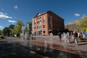 The historic Wheeler Opera House in downtown Aspen was built in the late 19th Century.