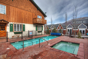 The Alpenblick pool and hot tub is not as big as the Fasching Haus, but offers a much more intimate setting.